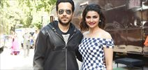 Emraan Hashmi and Prachi Desai snapped at Azhar promotions