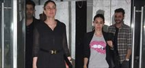 Kareena, Karishma and Karan Johar snapped post dinner at Sanjay Kapoor house