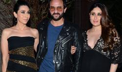 Karisma Kapoor, Saif Ali Khan and Kareena Kapoor Khan grace Manish Malhotra's 50th birthday bash hosted by Kara - Pictures