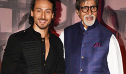 Amitabh Bachchan and Tiger Shroff at the launch of Ganesh Acharya's movie Bikhari - Pictures