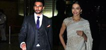 Deepika And Ranveer Arrive From NDTV Awards In Delhi