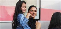 Deepika Padukone meets a cute fan during shoot in mehboob