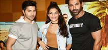 Varun Dhawan, Jacqueline Fernandez & John Abraham at 'Dishoom' promotions