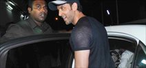 Hrithik Roshan enjoys a movie screening with his kids