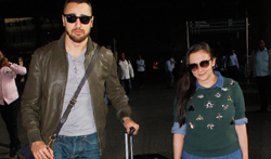 Imran Khan and Avantika Malik Khan snapped at the airport - Pictures