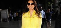 Juhi Chawla snapped at the Mumbai airport