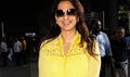 Juhi Chawla snapped at the Mumbai airport