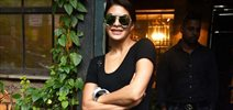 Jacqueline Fernandez snapped post Dishoom promotions