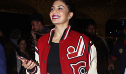 Jacqueline Fernandez snapped at the airport leaving for New York - Pictures