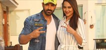 John and Sonakshi at Force 2 promotions