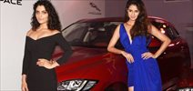 Saiyami Kher & Disha Patani at the launch of Jaguar F-Pace