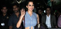 Kangna Ranaut Snapped On Arrival At Domestic Airport