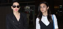 Karisma Kapoor and Alia Bhatt snapped at the airport