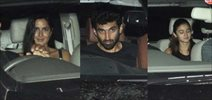 Katrina Kaif, Alia Bhatt & Aditya Roy Kapur snapped post get together at Aarti Shetty's house