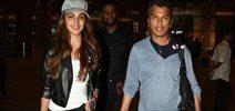 Kiara  & Vikram Phadnis snapped at the airport