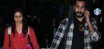Kishwar Merchant And Suyyash Rai Snapped At Domestic Airport