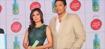 Lara and Mahesh Bhupathi at Goodnight repellant launch