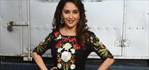 Madhuri DIxit snapped on the sets of If you can dance