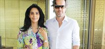 Mallika Sherawat snapped with her boyfriend at airport