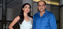 Pooja Hegde and Aashutosh Gowarikar snapped during 'Mohenjo Daro' promotions
