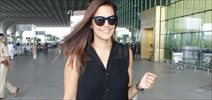 Neha Dhupia snapped at domestic terminal