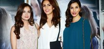 Dia Mirza, Huma Qureshi And Sophie Choudry At Special screening of 'Neerja' at Light Box