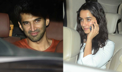 Aditya Roy Kapur, Shraddha Kapoor and Shaad Ali snapped at 'Ok Jaanu' wrap up bash - Pictures