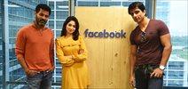 Sonu Sood, Prabhu Deva and Tamannaah Bhatia promote 'Tutak Tutak Tutiya' at Facebook