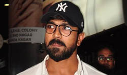 Ram Charan Arriving in Hyderabad - Pictures
