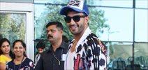 Ranveer Singh Flaunts His Personalised Cap RS At Domestic Airport