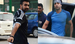 Ranbir Kapoor & Raj Kundra snapped at St Andrews Ground - Pictures