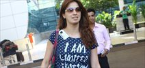 Raai Laxmi Snapped At Domestic Airport