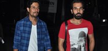 Rajkumar And Randeep Hooda Snapped At Domestic Airport