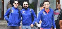 Ranbir, Dino, Kartik and Bunty Walia depart for Delhi All Stars Football match