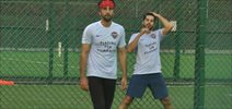 Ranbir Kapoor and Dino Morea at Roots Football Tournament