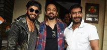 Ranveer Singh and Rohit Shetty visit Ajay Devgan at his office in Juhu