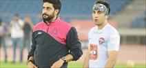 Ranbir Kapoor Abhishek Bachchan enjoy football match in Delhi