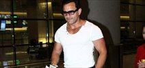 Saif Ali Khan snapped at international airport