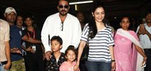Sanjay Dutt and family returns from holidays in Rajasthan