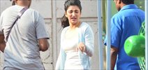Shruti Hassan snapped on the sets of Philips Ad shoot
