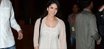 Sunny Leone snapped at international airport