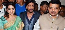 Shahrukh Khan unveils Shaina NC book with Maharashtra CM