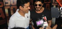 Shah Rukh Khan drops in to meet Manoj Bajpai promoting his movie Traffic
