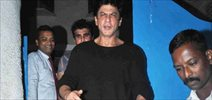 Shah Rukh Khan snapped post dinner at Olive