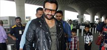 Saif Ali Khan snapped at the airport