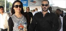 Salman Khan Aand Preity Zinta Snapped At Airport
