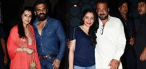 Sanjay Dutt, Sunil Shetty and Abhishek Kapoor snapped post dinner at The Korner House