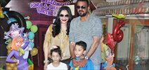 Sanjay Dutt celebrates his kids' birthday in style