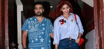 Shilpa Shetty Kundra & Raj Kundra snapped post a movie screening