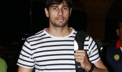Sidharth Malhotra departs to shoot Reload in Bangkok - Pictures